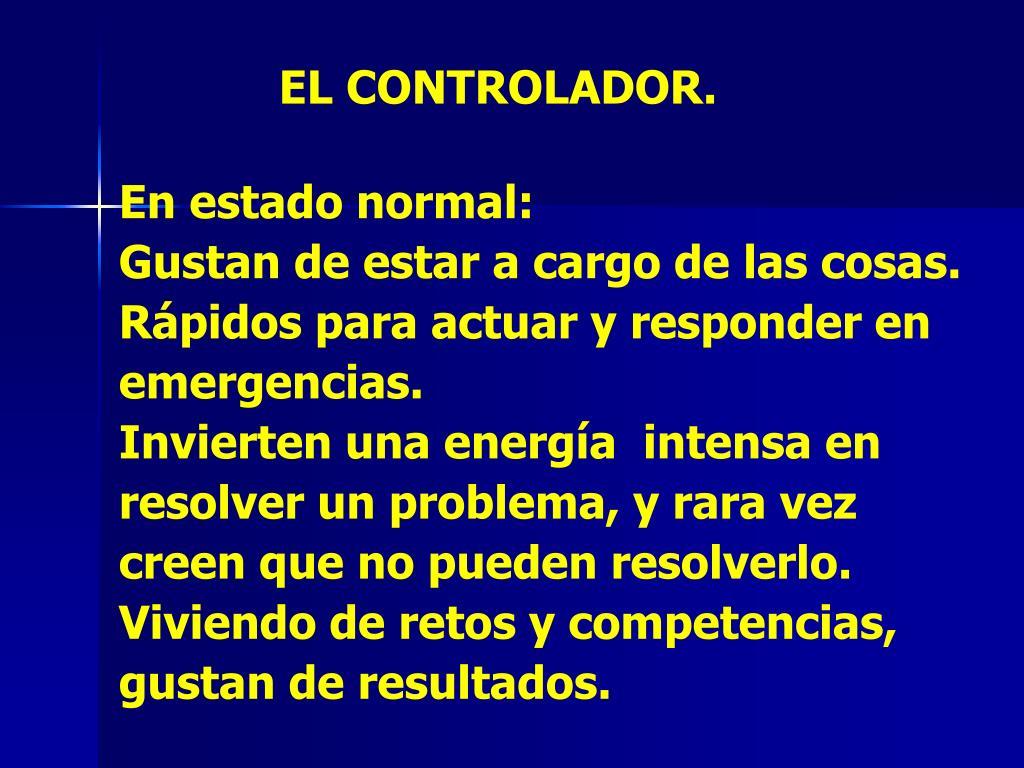 EL CONTROLADOR.