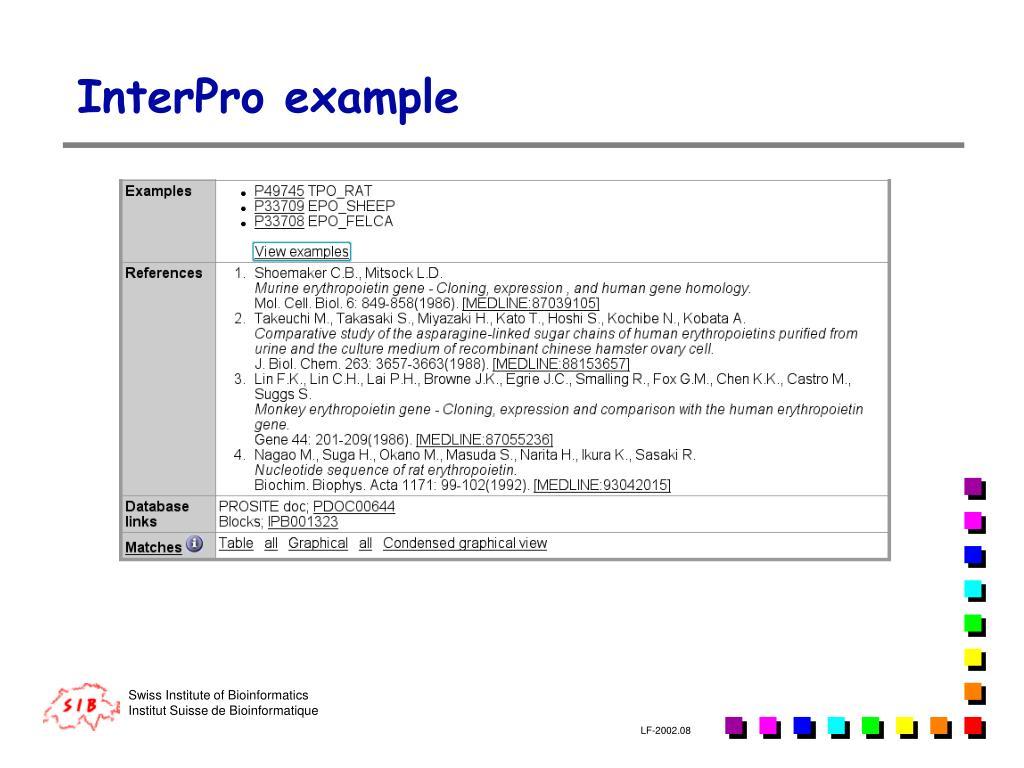 InterPro example