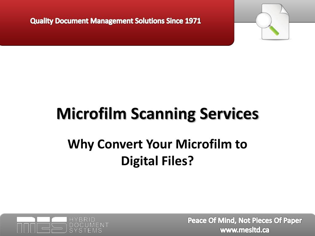microfilm scanning services l.