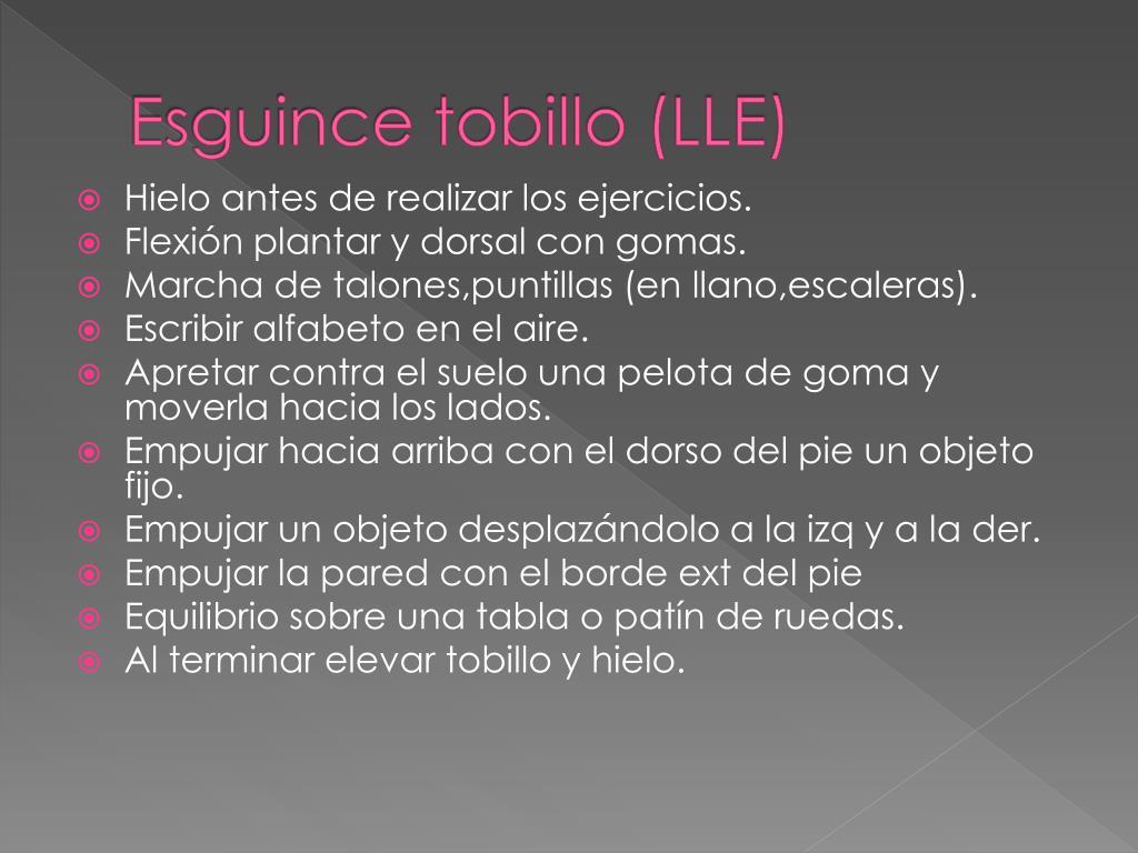 Esguince tobillo (LLE)