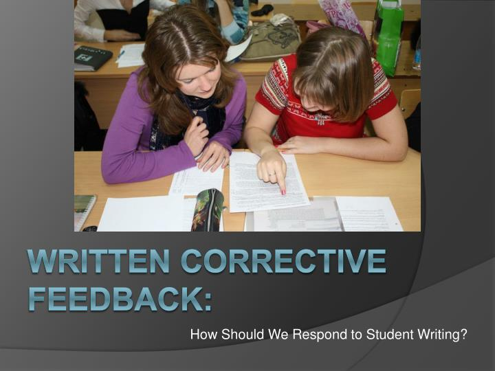 how should we respond to student writing n.