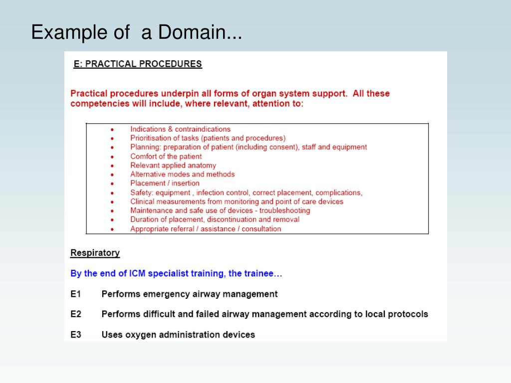Example of  a Domain...