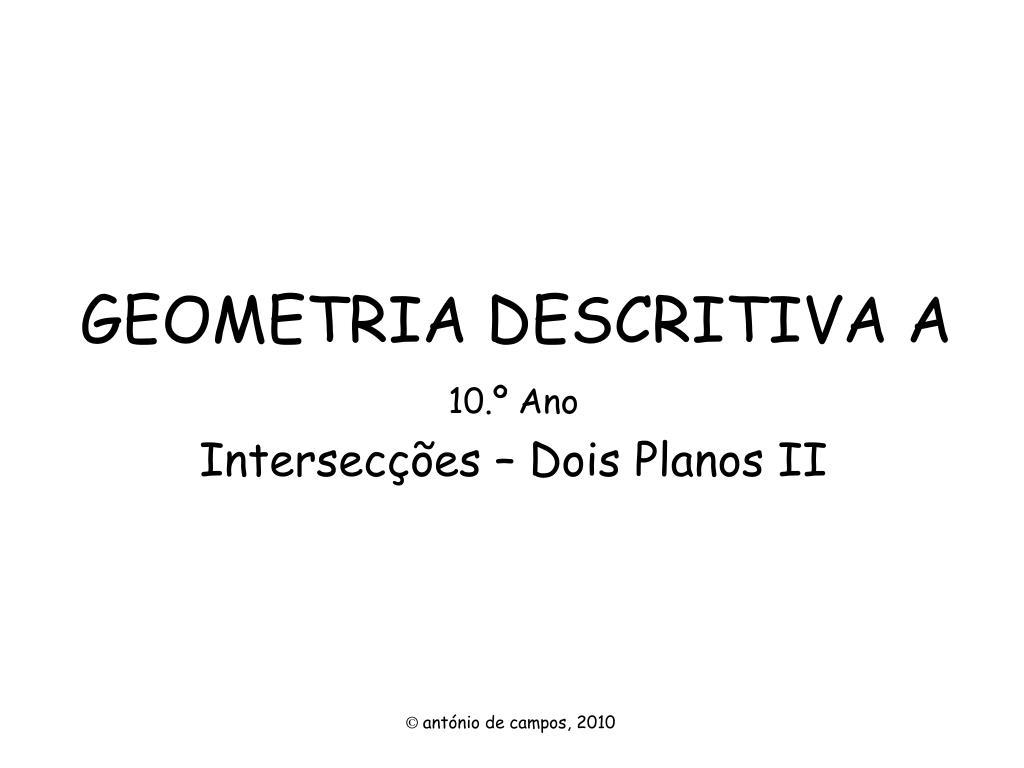 geometria descritiva a l.