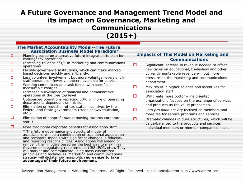 PPT - A Future Governance and Management Trend Model and its impact ...