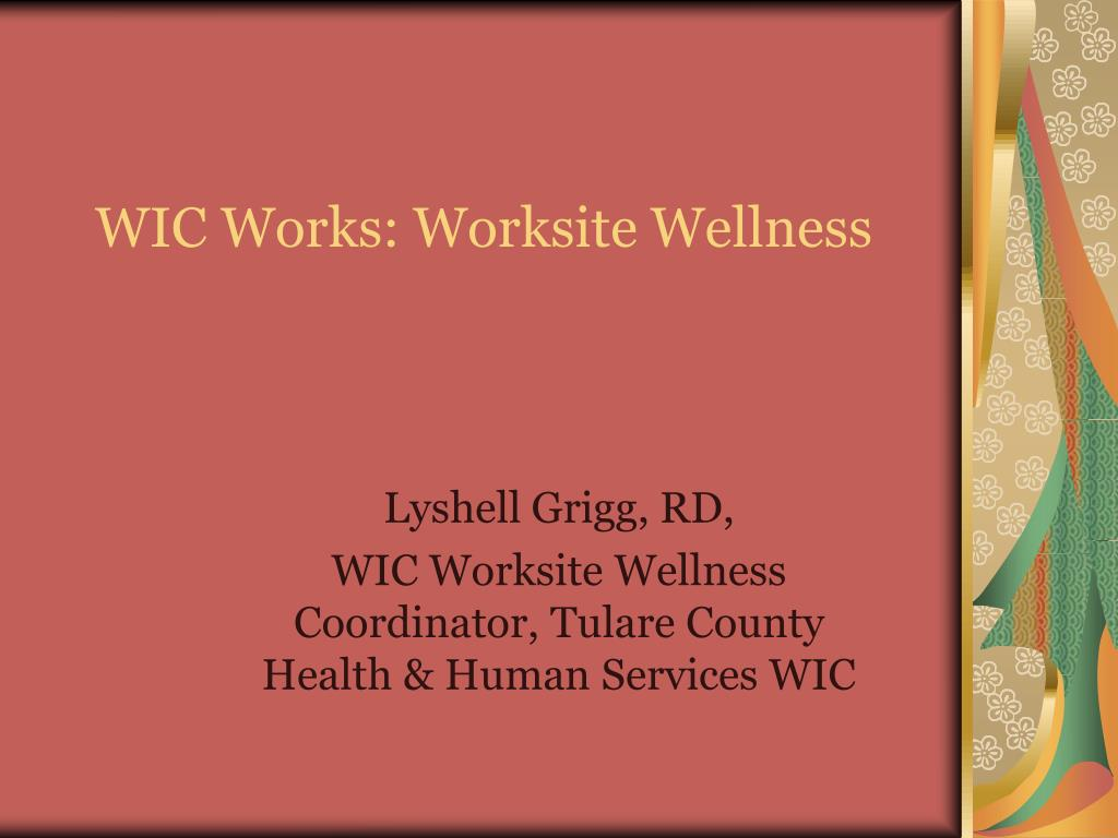 wic works worksite wellness l.