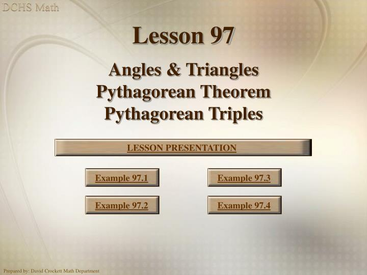 pythagoras triples coursework Such triplets are called pythagorean triples (3,4,5) if we know one pythagorean triple, there of course is a trivial way to produce more.