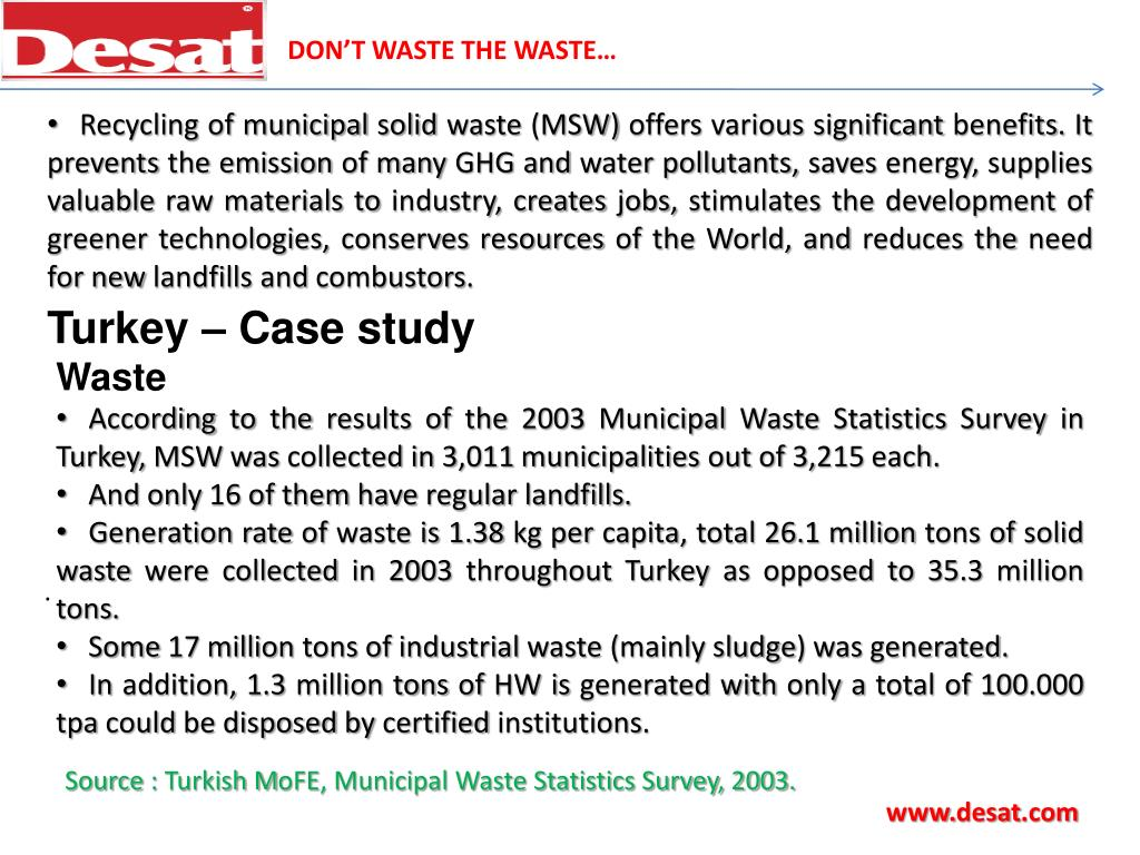 DON'T WASTE THE WASTE…
