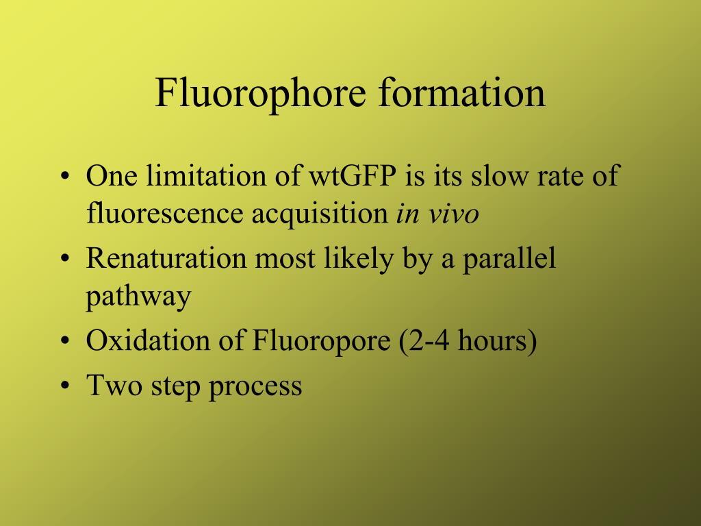 Fluorophore formation