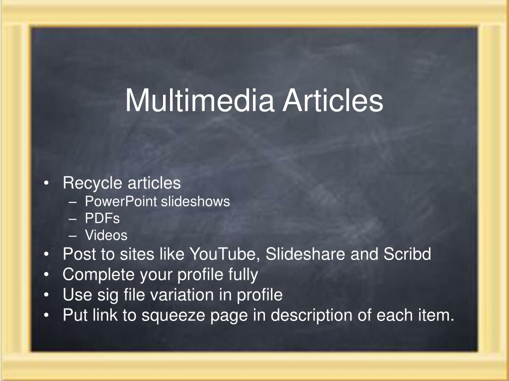 Multimedia Articles