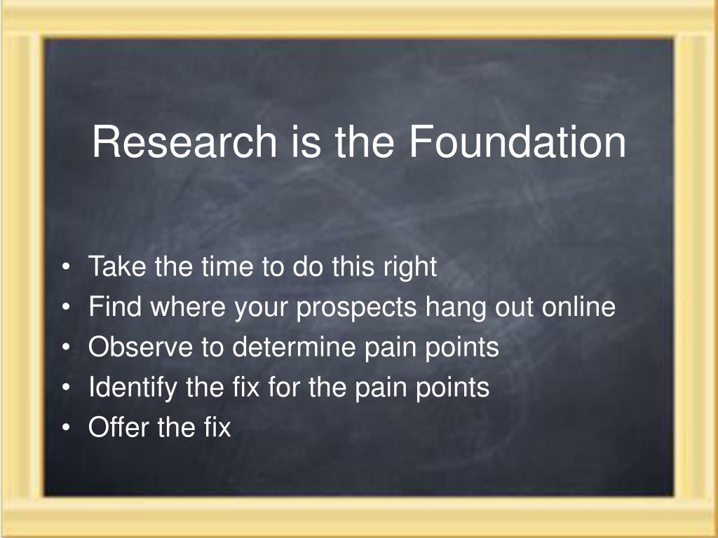 Research is the Foundation