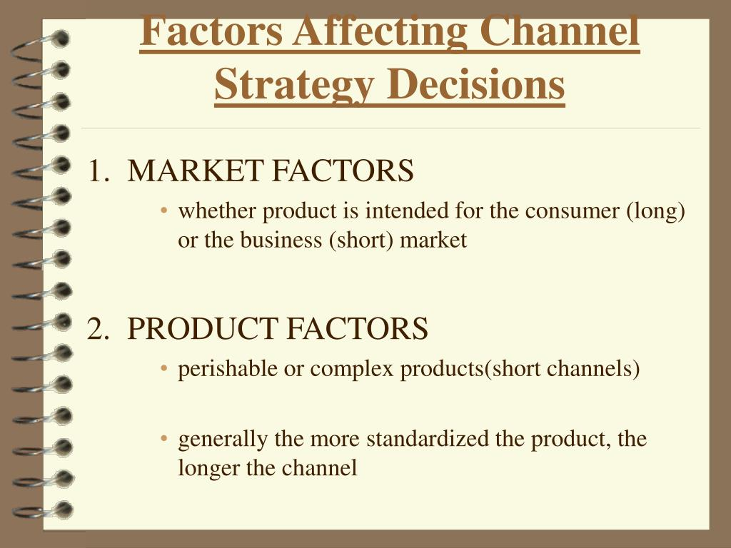 Factors Affecting Channel Strategy Decisions