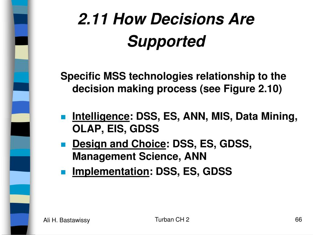 2.11 How Decisions Are Supported