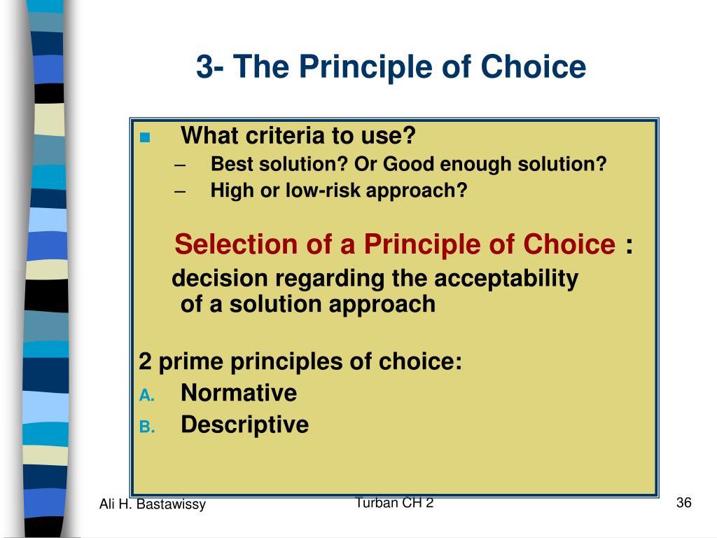 3- The Principle of Choice