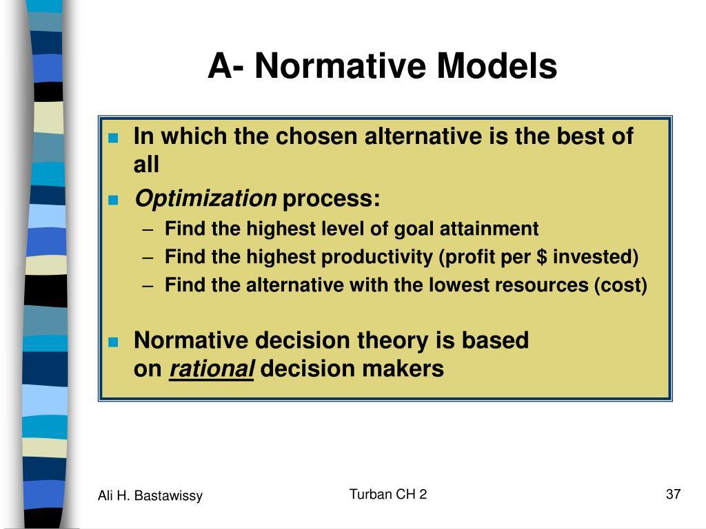A- Normative Models