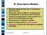 b descriptive models