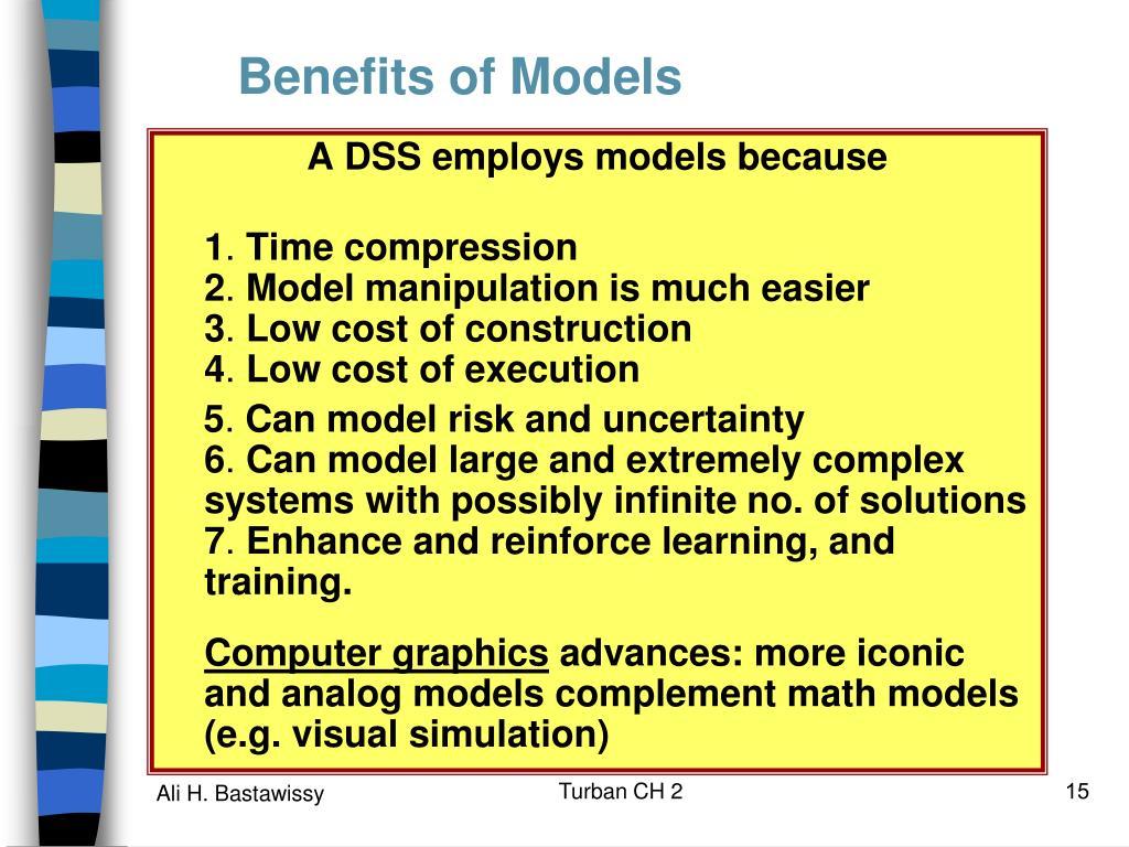 Benefits of Models