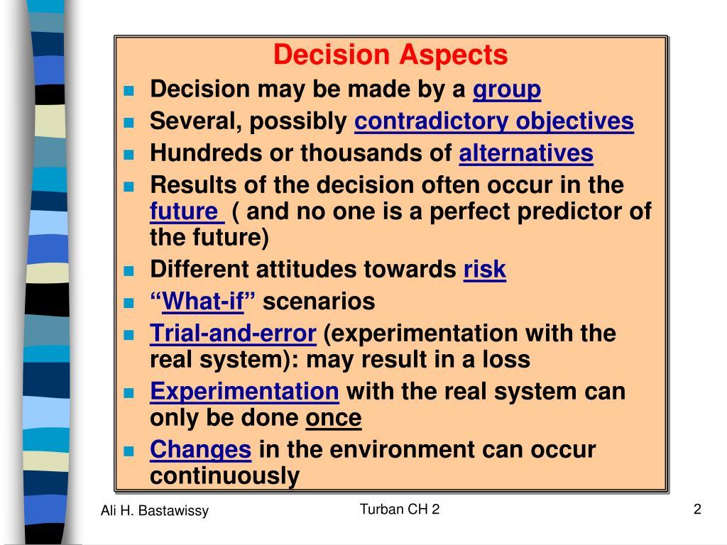 Decision Aspects