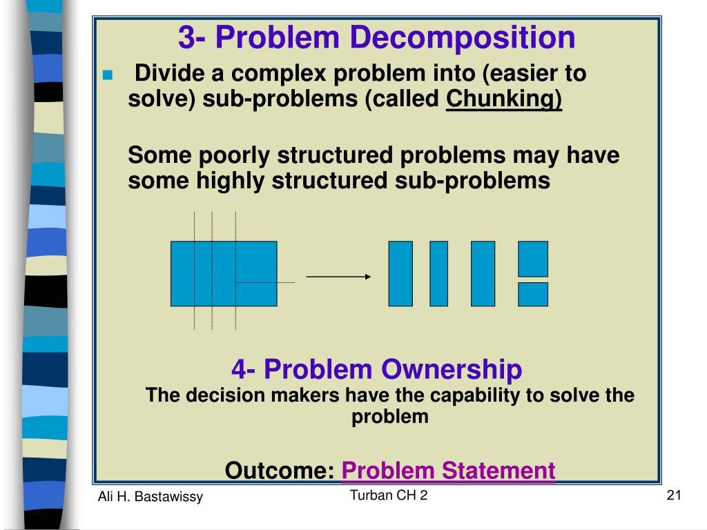 3- Problem Decomposition