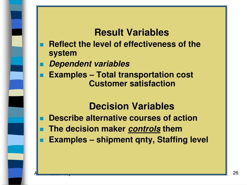 Result Variables