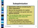 suboptimization