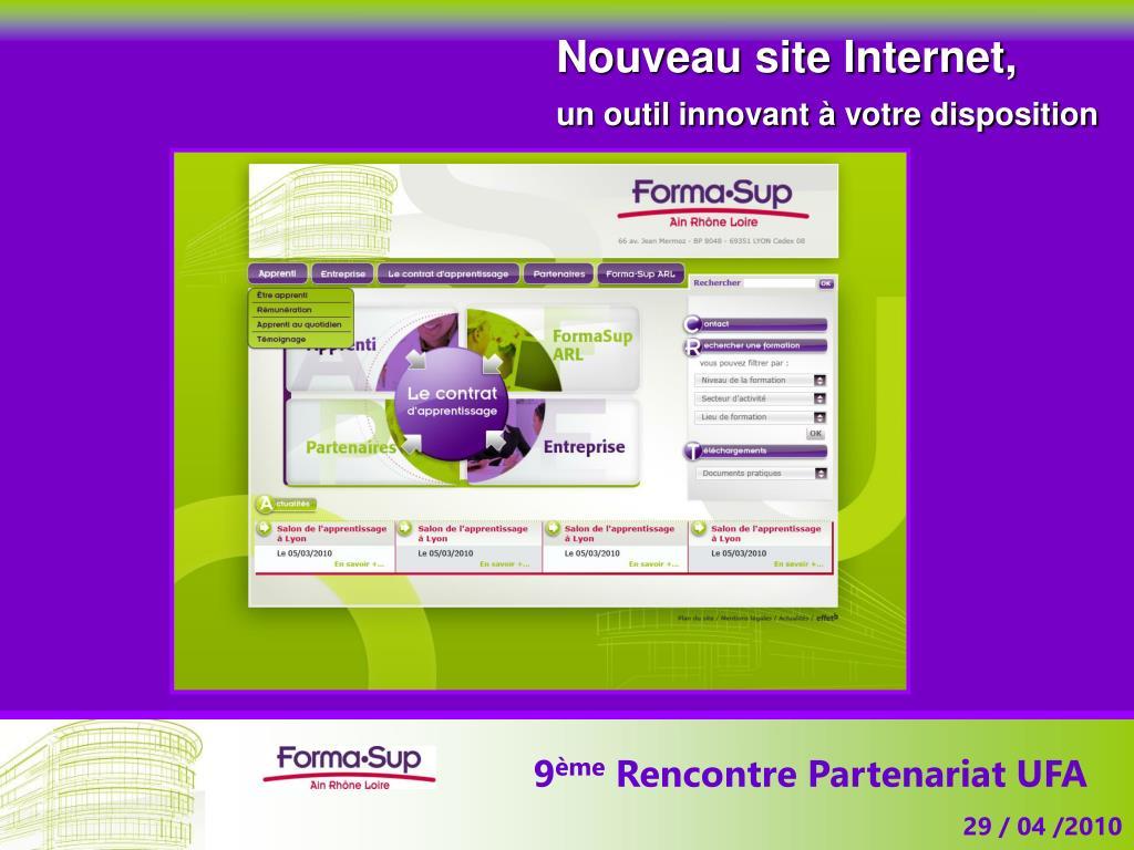 Nouveau site Internet,