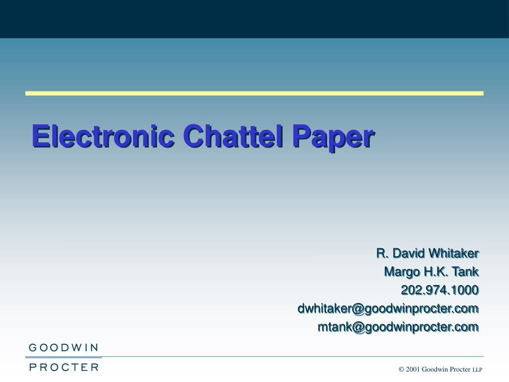 Electronic paper (e-paper).