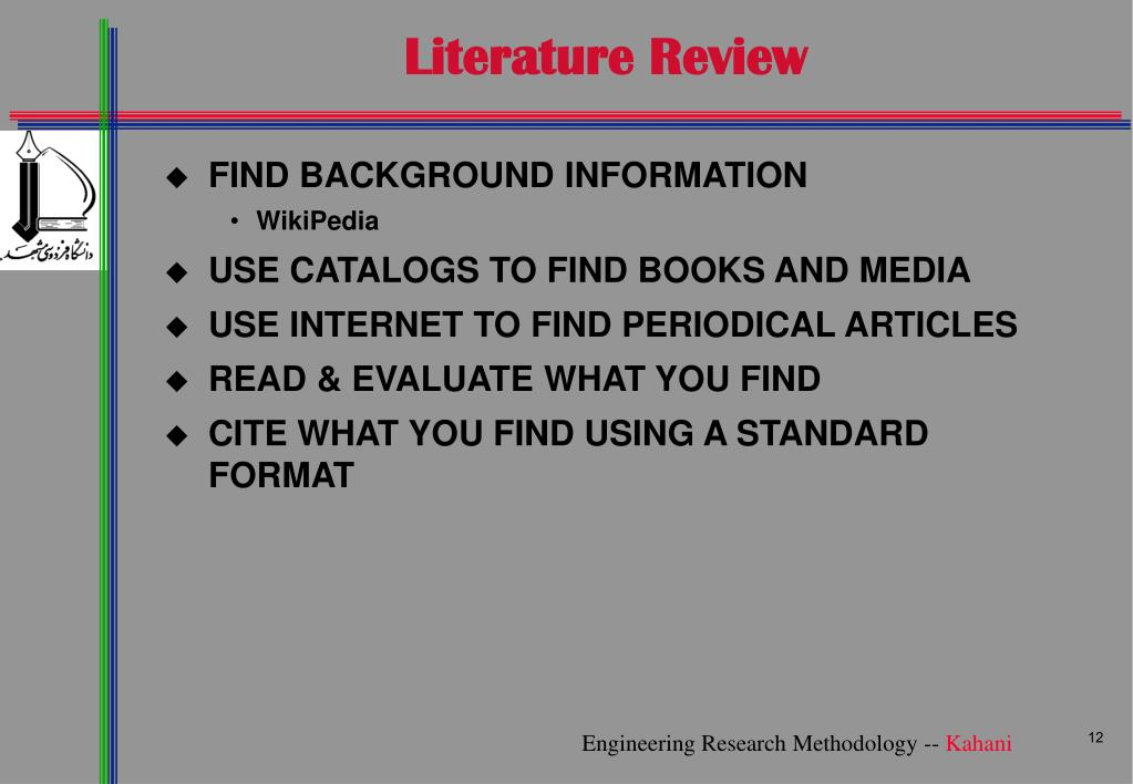 format of a literature review