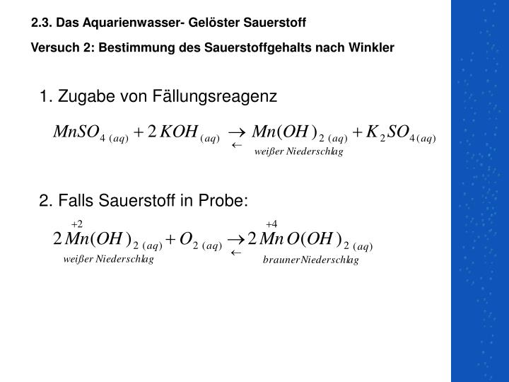 Ppt Chemie Der Aquaristik Powerpoint Presentation Id779527