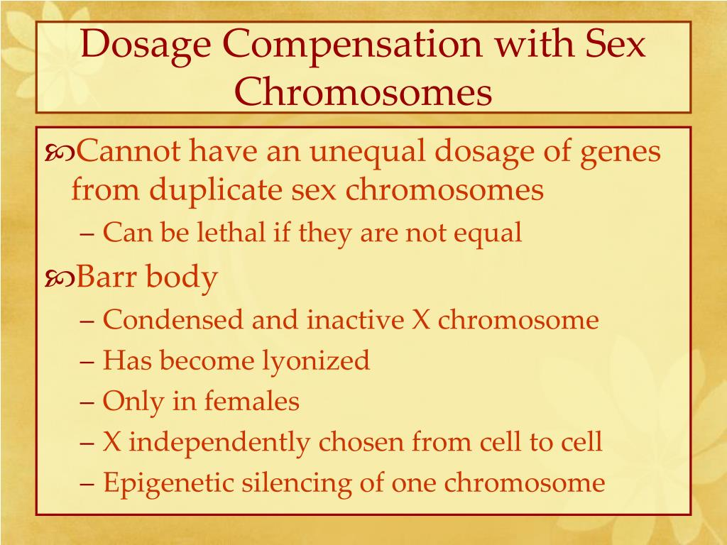 Dosage Compensation with Sex Chromosomes