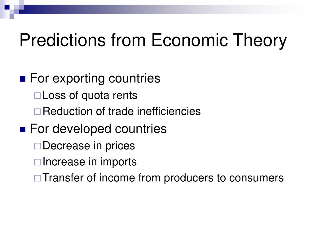 Predictions from Economic Theory