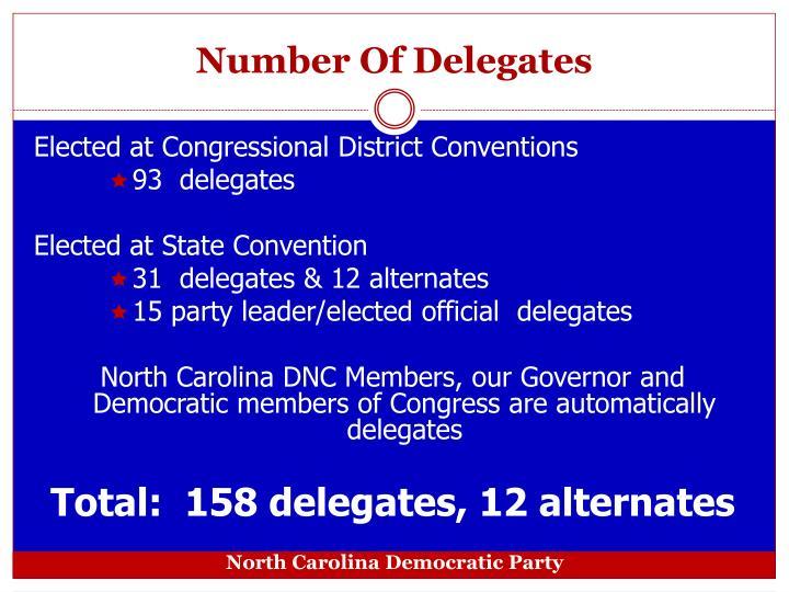 Number of delegates
