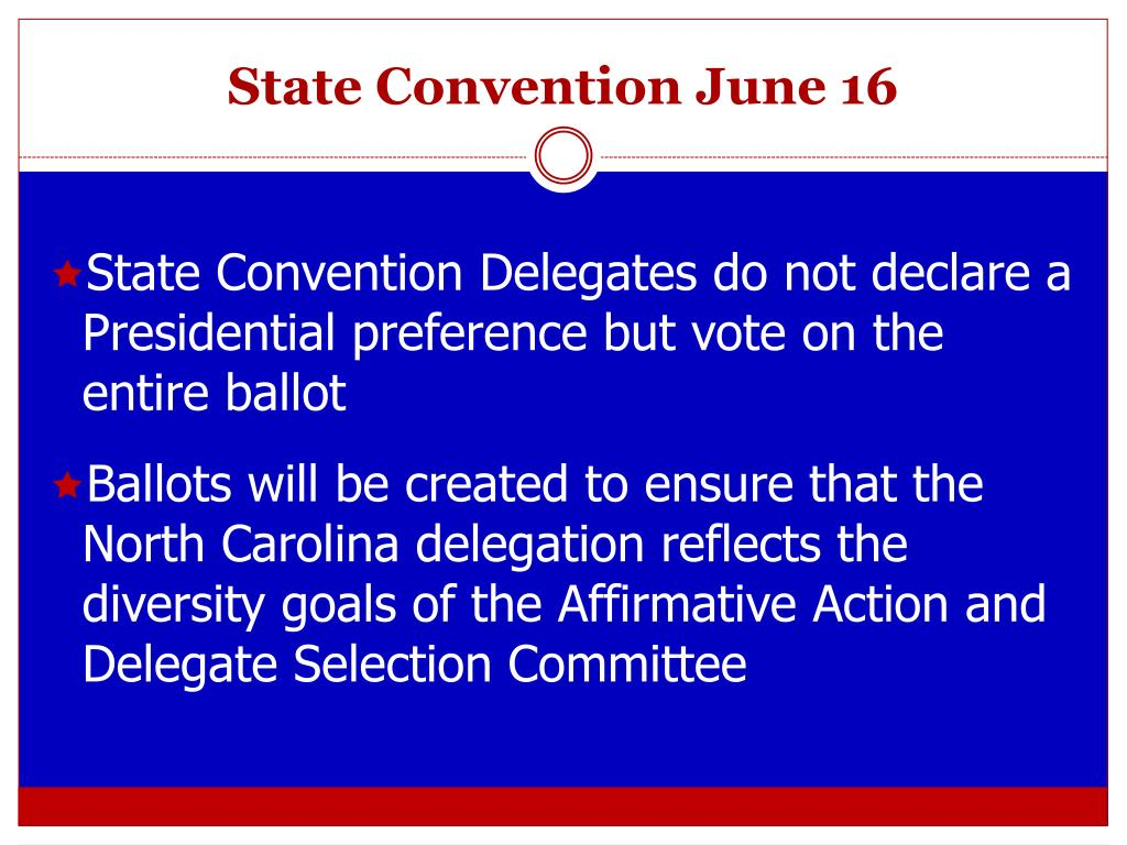 State Convention June 16