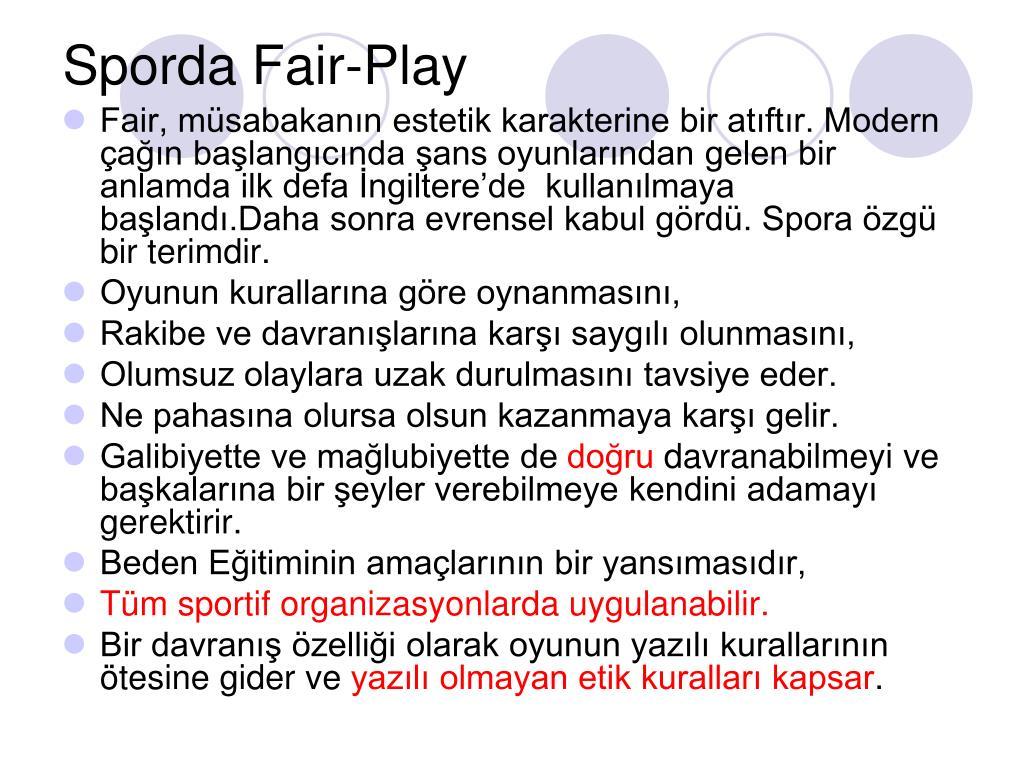 Sporda Fair-Play