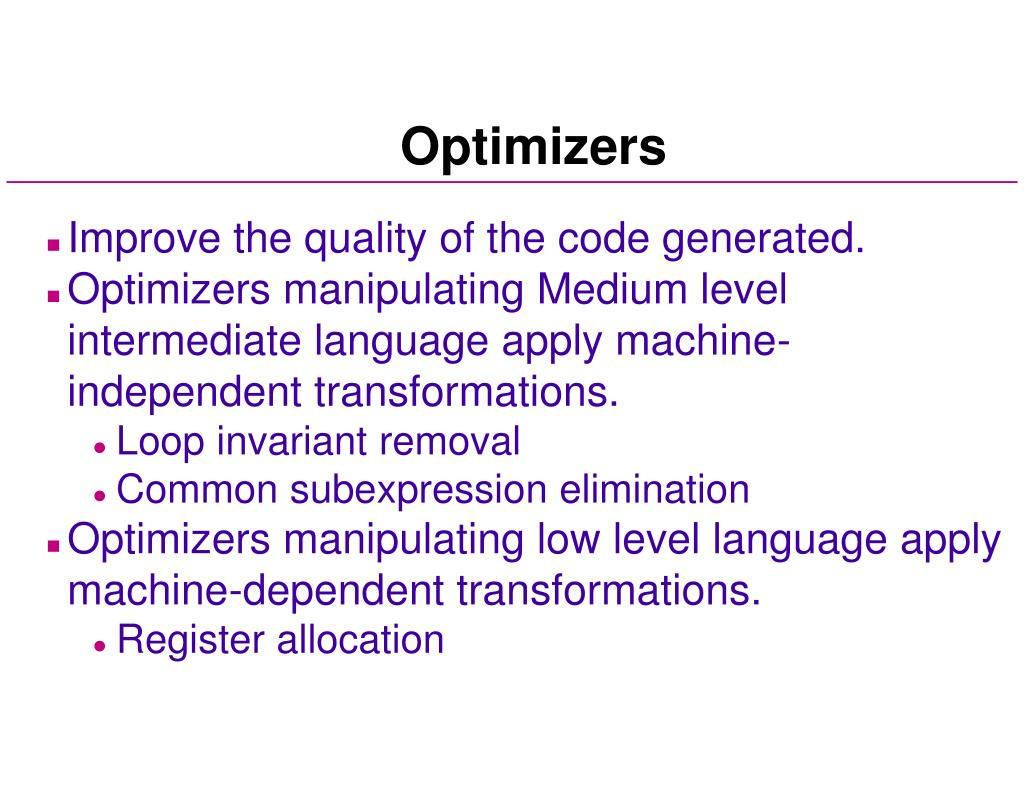 Optimizers