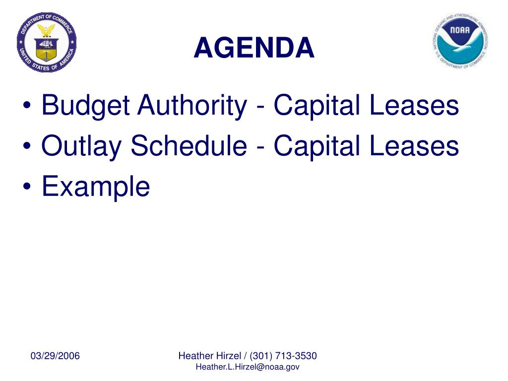 Budget Authority - Capital Leases