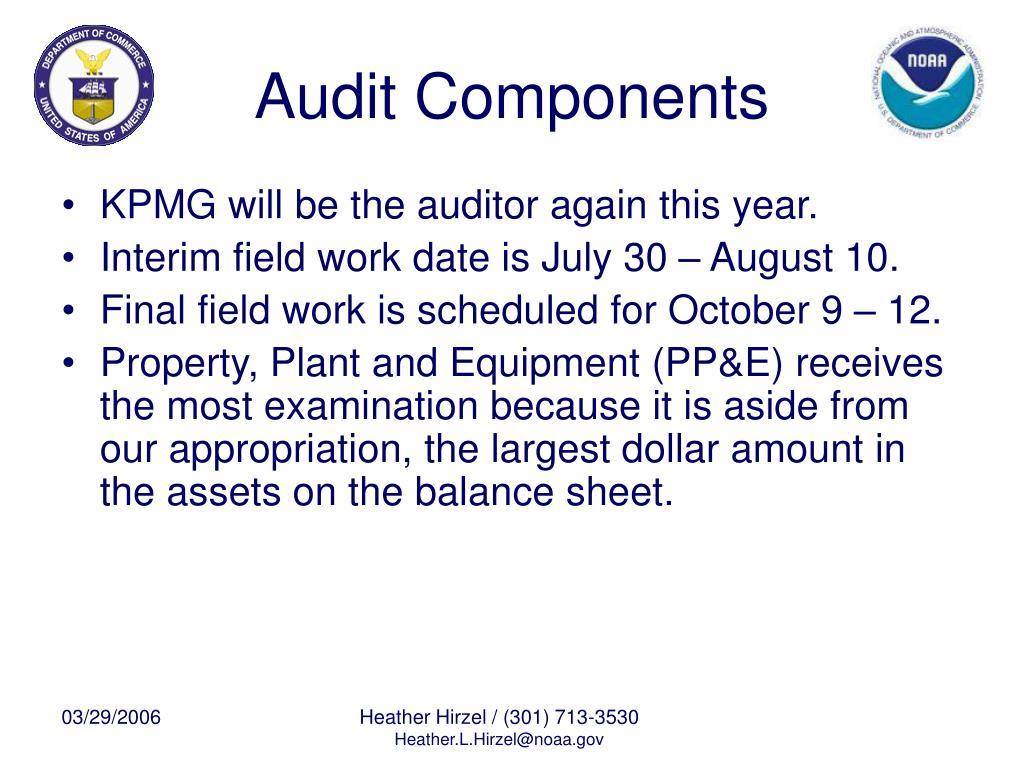 Audit Components