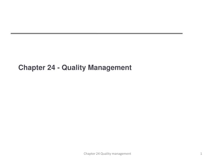 chapter 24 quality management n.