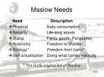 maslow needs