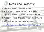 measuring prosperity
