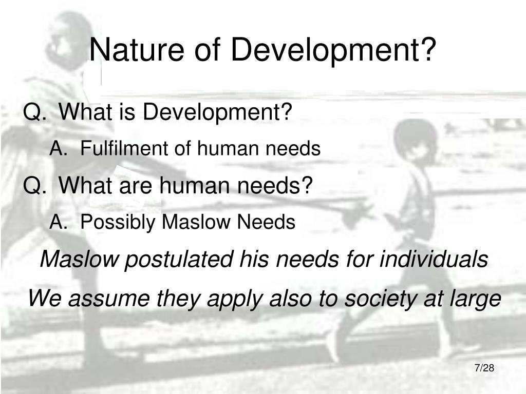 Nature of Development?