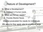 nature of development