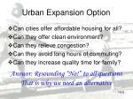 urban expansion option