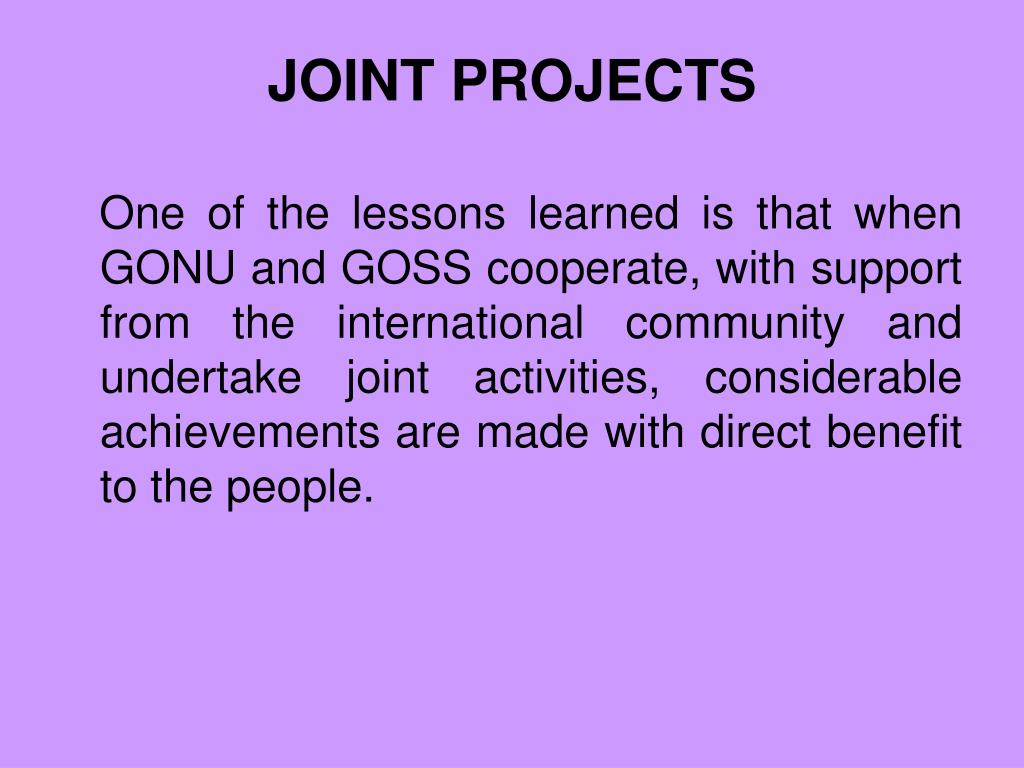 joint projects l.