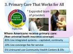 3 primary care that works for all