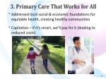 3 primary care that works for all27