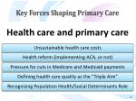 key forces shaping primary care12
