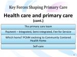 key forces shaping primary care16