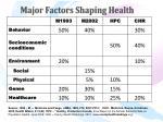major factors shaping health