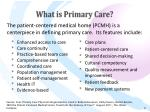 what is primary care9