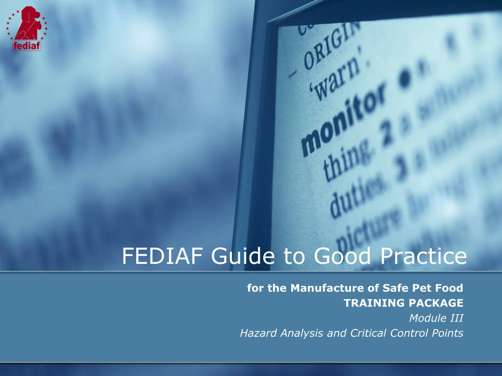 fediaf guide to good practice l.